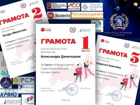VI Всероссийская студенческая Олимпиада по бухучёту. Отборочный этап прошёл успешно